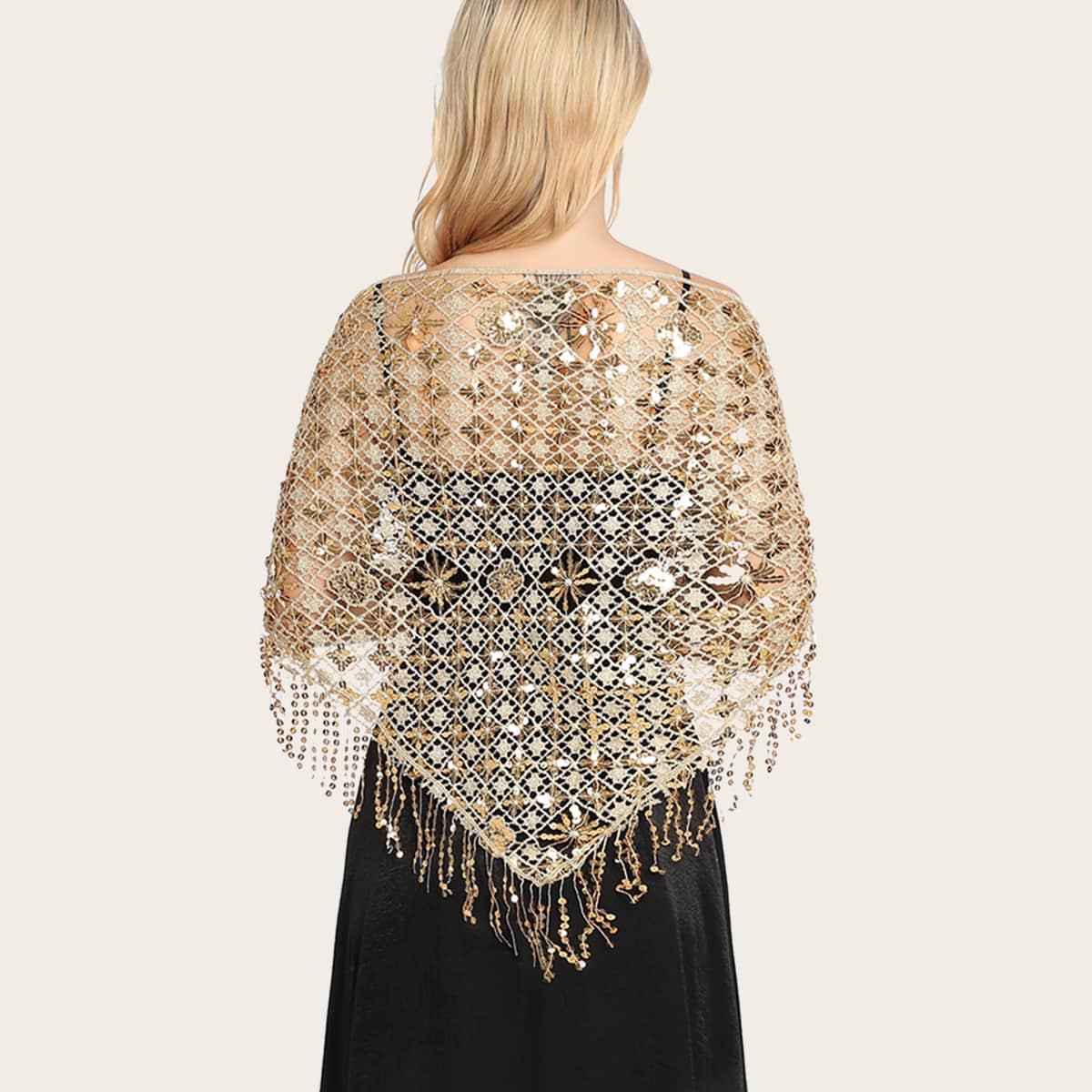 shein Sequin Decor sjaal