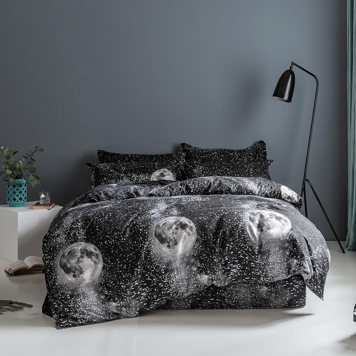 Set ropa de cama con estampado de galaxia sin relleno