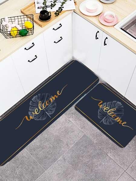 1pc Letter Graphic Floor Mat