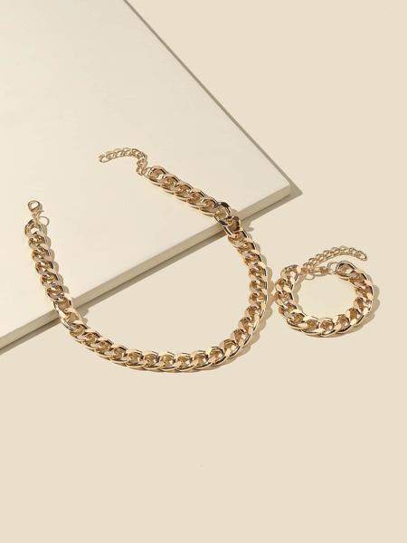 Chain Necklace & Bracelet