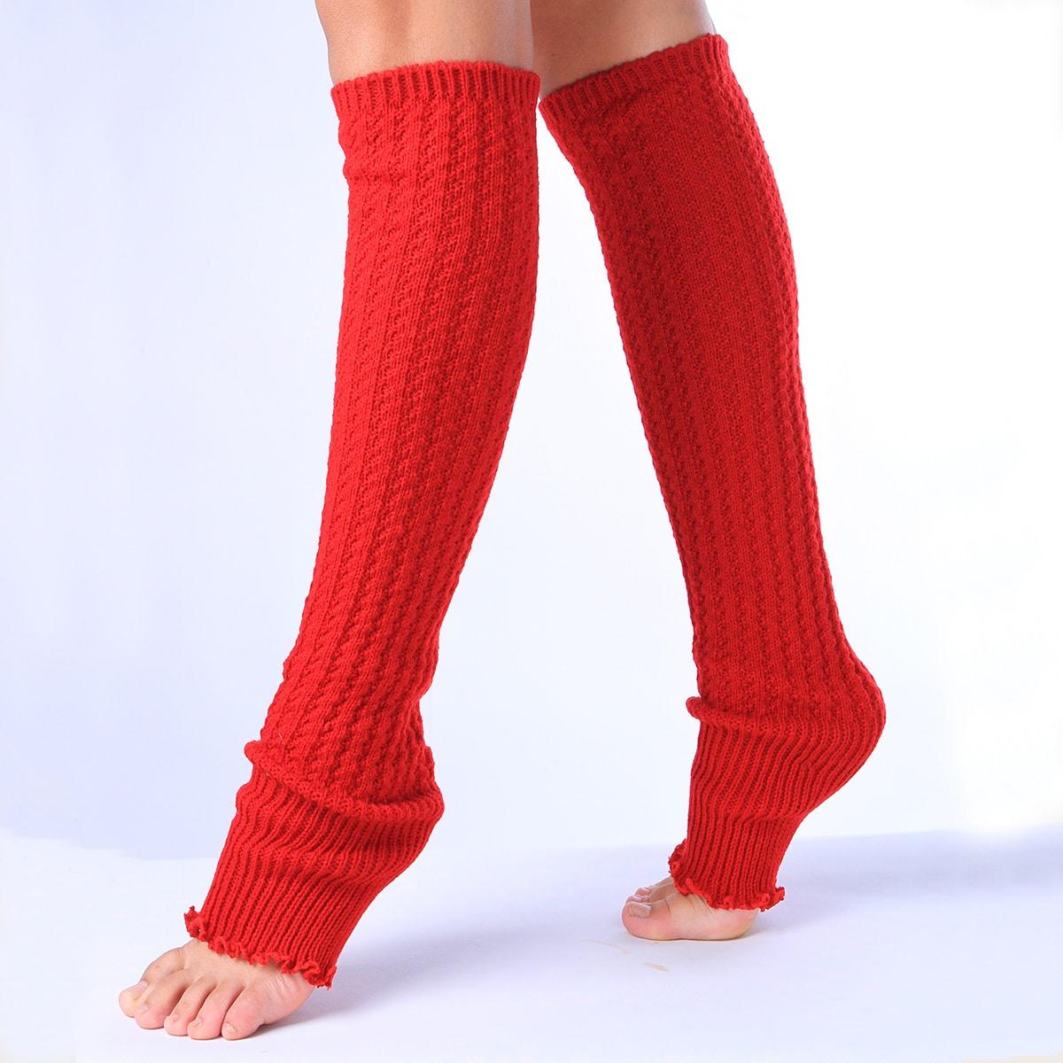 1pair Plain Leg Warmers