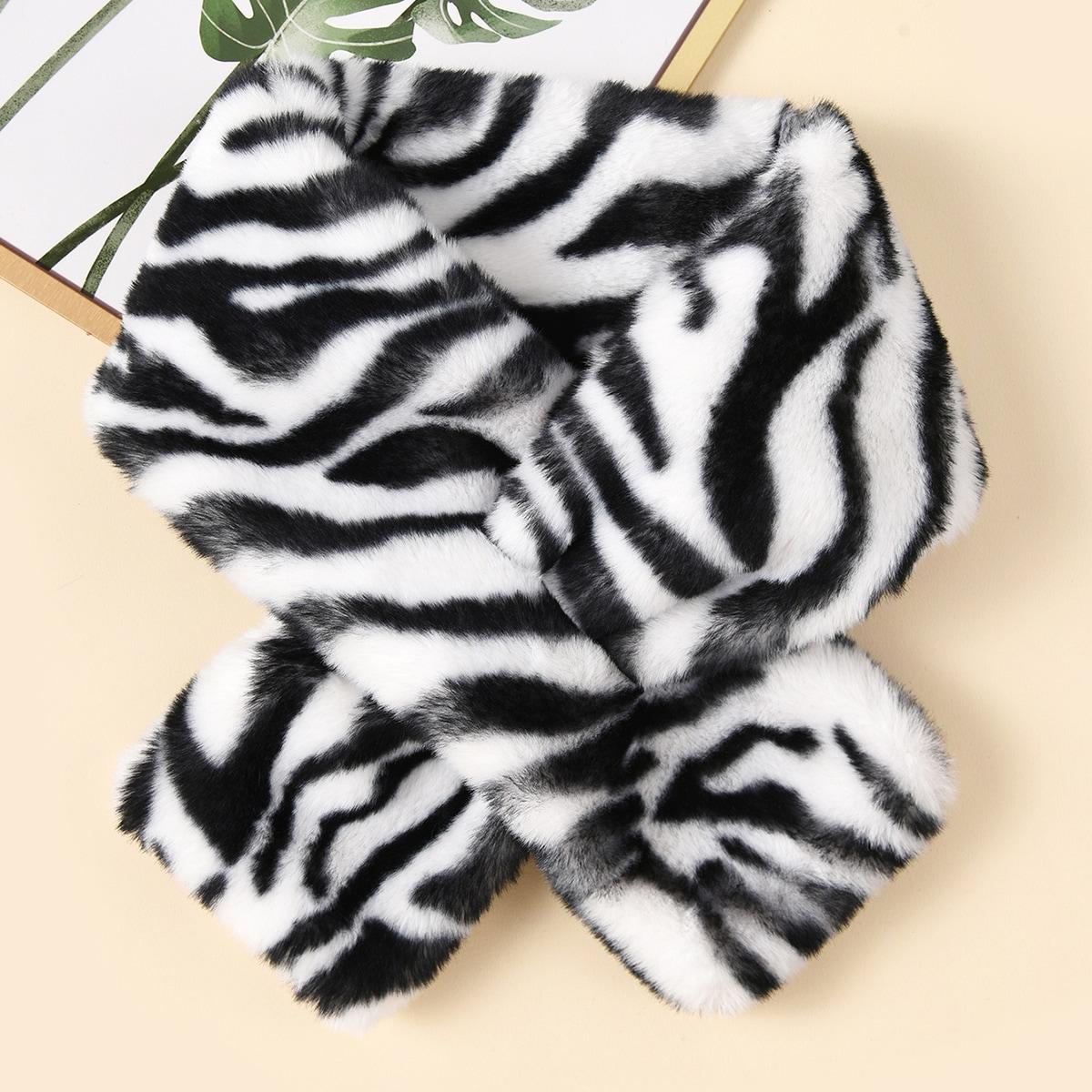 shein Zebra gestreepte sjaal