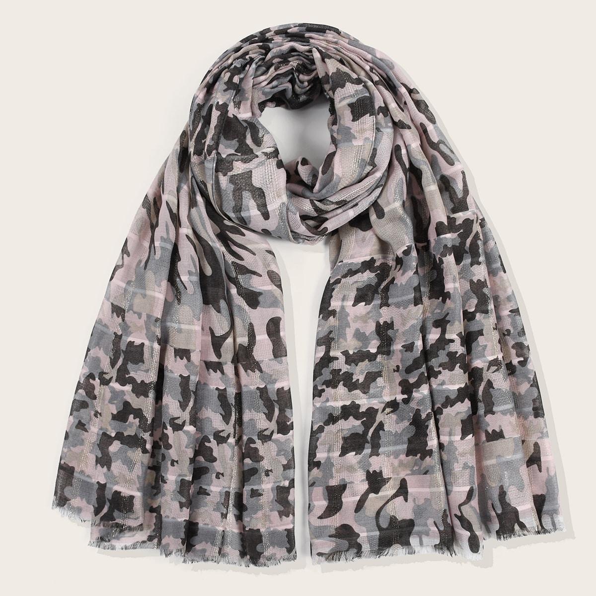 shein Sjaal met camouflageprint