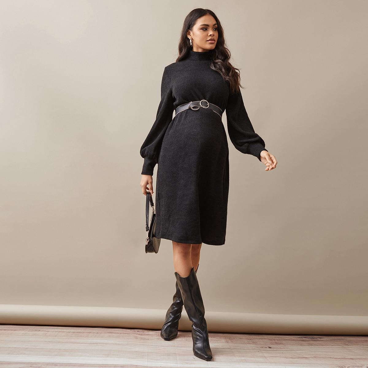 Платье с воротником-стойкой без пояса для беременных от SHEIN