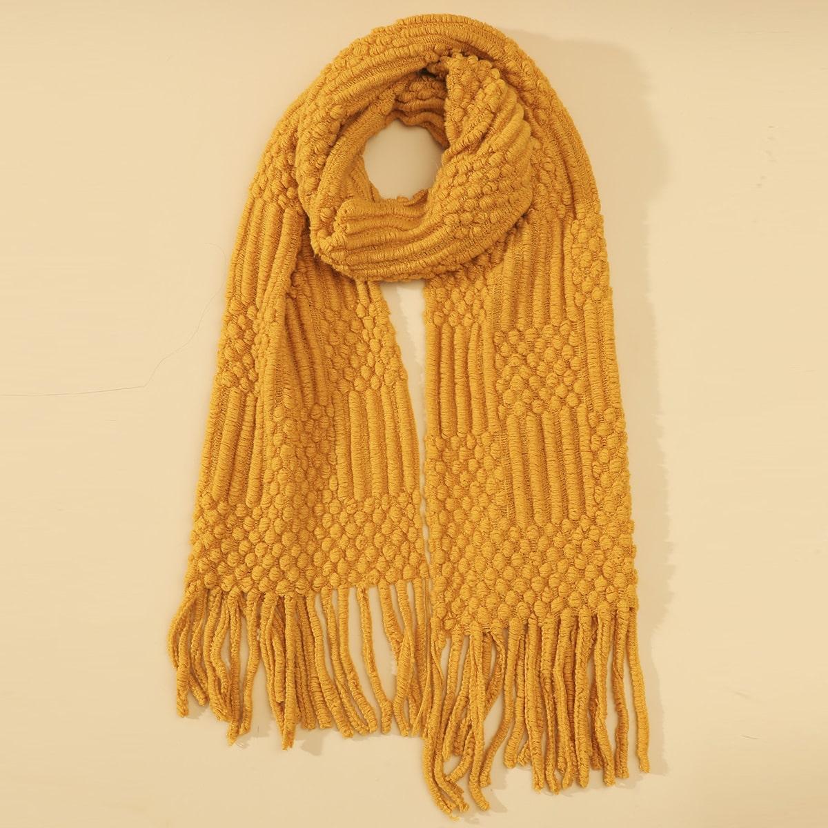 shein Effen sjaal met franjes