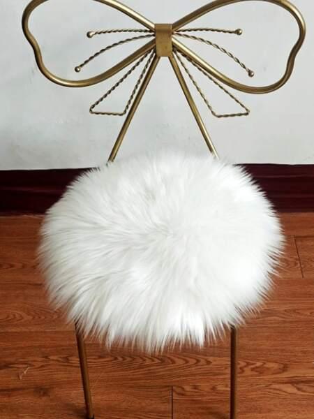 1pc Round Plush Carpet