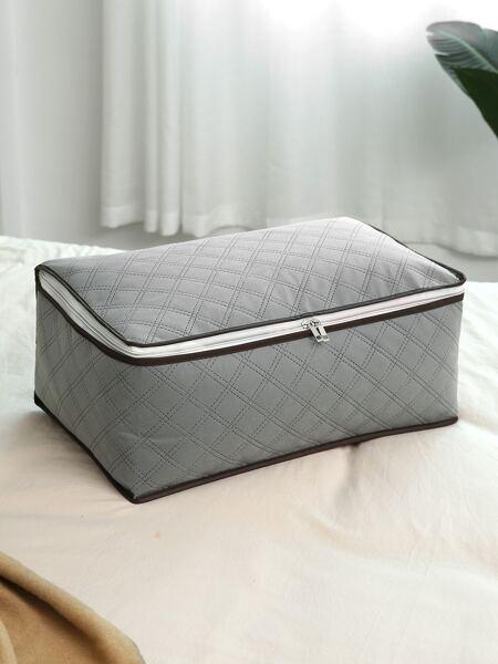 Quilted Zip-Up Storage Box