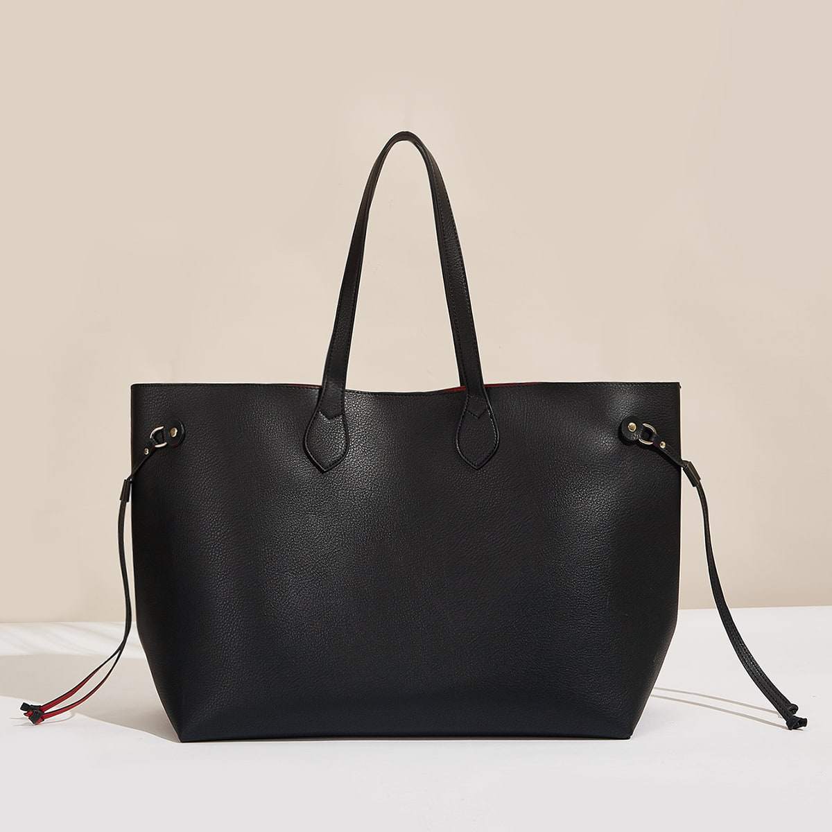 Minimalist Large Tote Bag With Purse