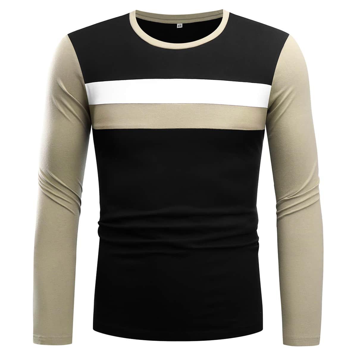 Camiseta patchwork para hombre