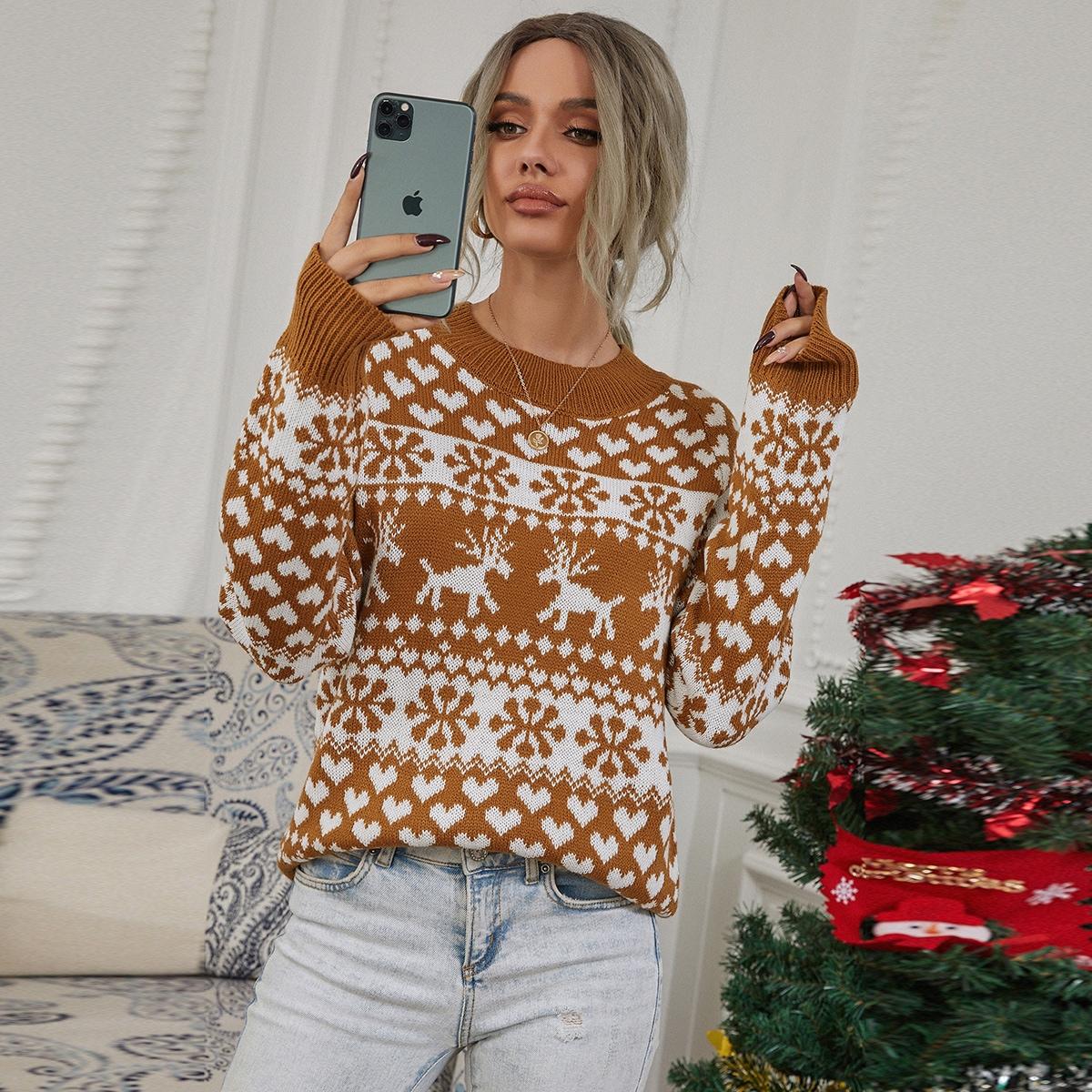 Jersey de manga raglán de navidad
