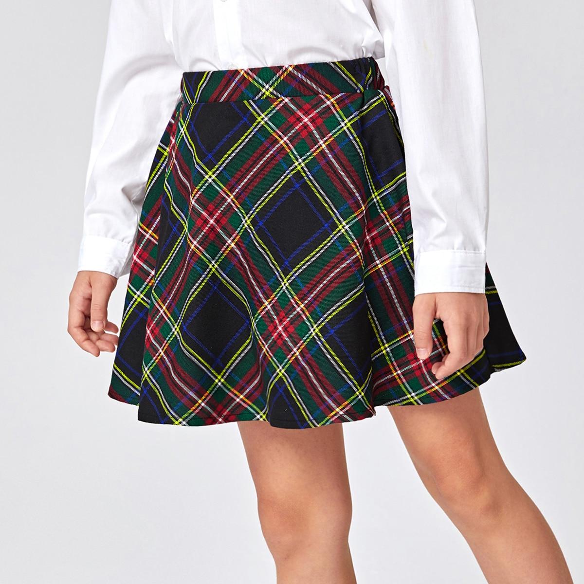 Faldas para niñas Tartán Preppy