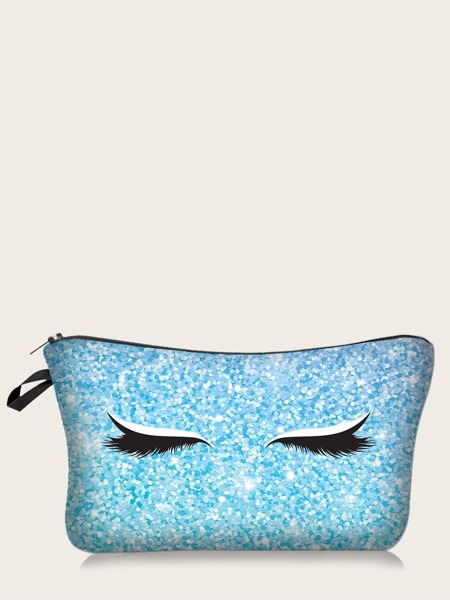 Eyelash Print Makeup Bag