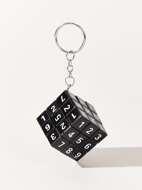 Rubiks Cube Charm Keychain