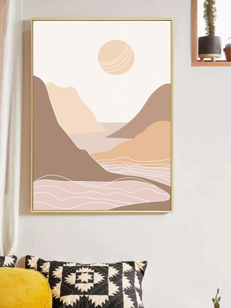 Abstract Landscape Wall Painting Without Frame