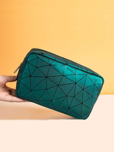 Geometric Pattern Makeup Bag
