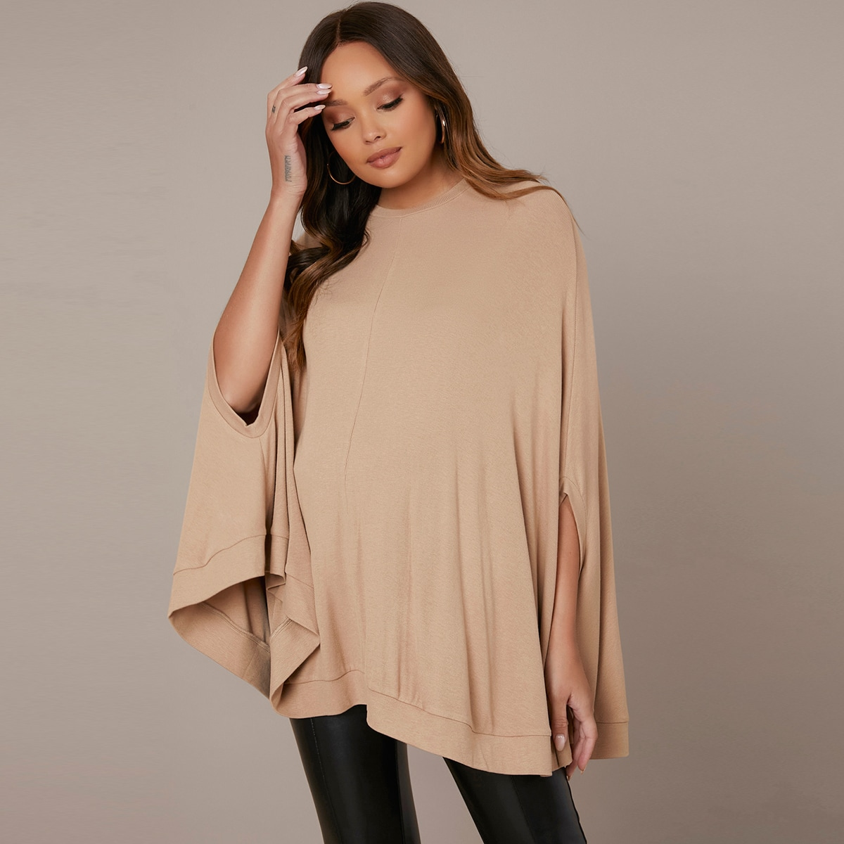 Maternity Cloak Sleeve Solid Top