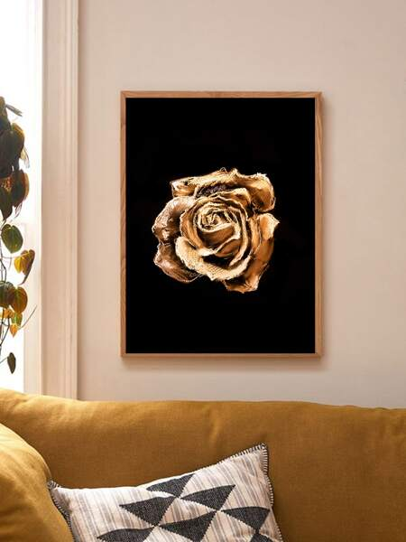Rose Print Wall Painting Without Frame