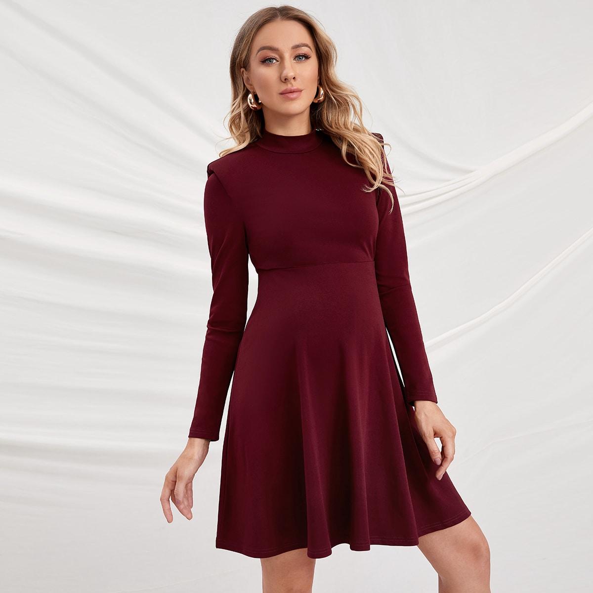 Одноцветный Элегантный Платья для беременных от SHEIN