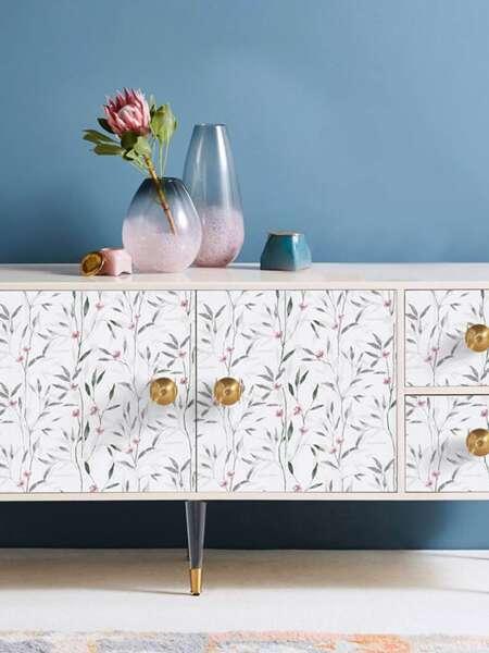 1sheet Floral Pattern Wallpaper Sticker