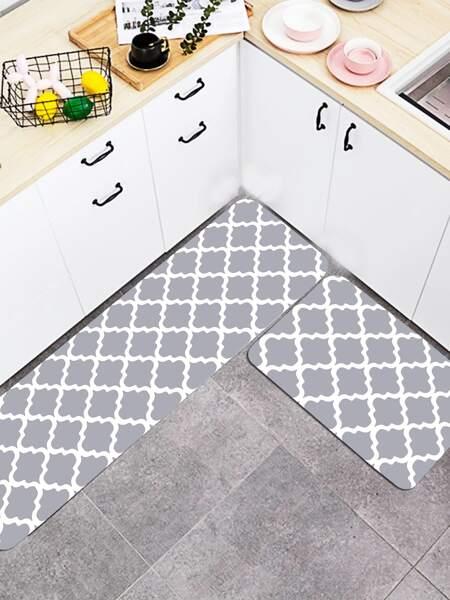 1pc Geometric Pattern Kitchen Carpet