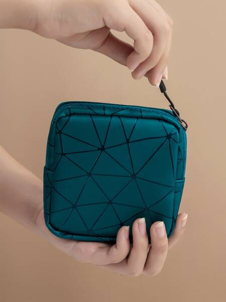 Geometric Pattern Storage Bag
