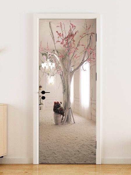 1set Tree Print Door Sticker