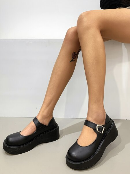 Mary Jane Platform Flatform Shoes