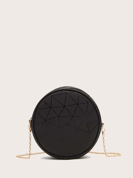 Geometric Graphic Chain Circle Bag