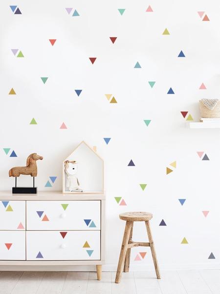 Kids Triangle Print Wall Sticker