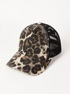 Leopard Pattern Mesh Baseball Cap