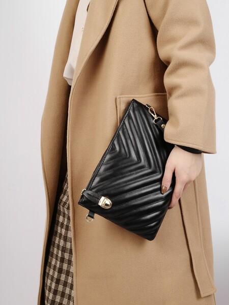 Chevron Clutch Bag