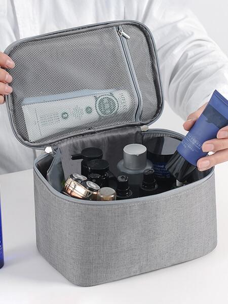 1pc Plain Travel Storage Bag