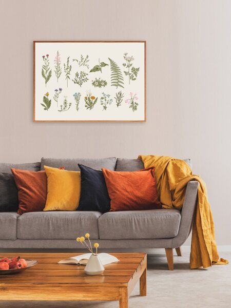 Plants Print Wall Painting Without Frame