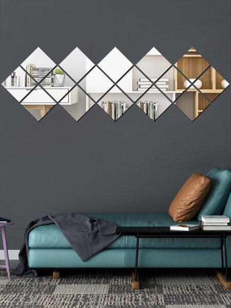 16pcs Mirror Surface Wall Sticker