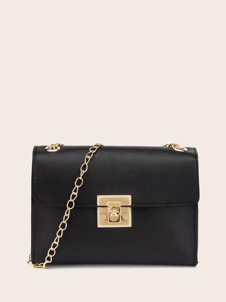 Minimalist Flap Chain Crossbody Bag