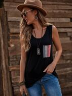 Geo Patched Tank Top