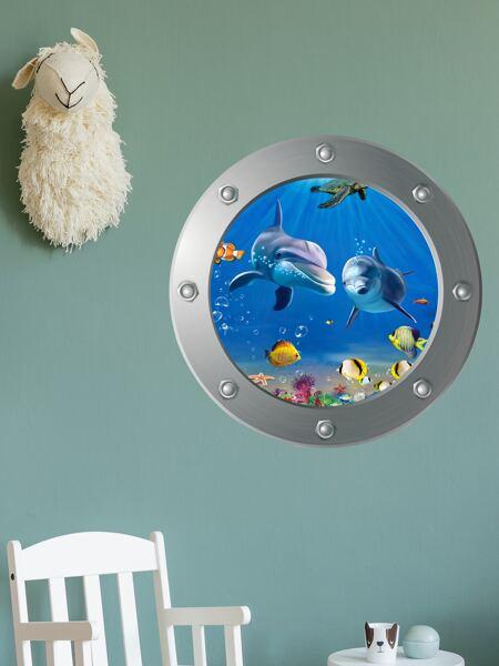 Kids Dolphin Pattern Wall Sticker