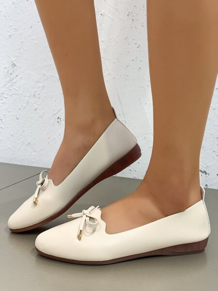 Bow Decor Wide Fit Flats