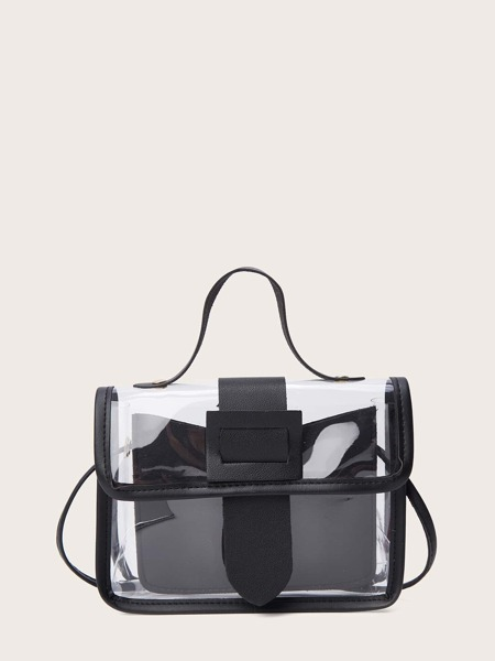 Clear Satchel Bag With Inner Pouch