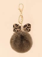 Leopard Bow Keychain