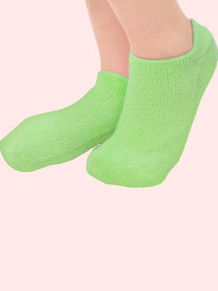 1pair Solid Moisturizing Socks