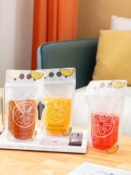 10pcs Random Beverage Bag With Straw