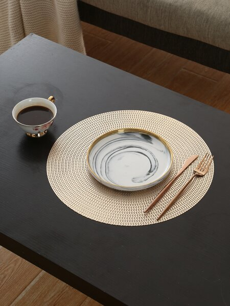 1pc Round Hollow Placemat