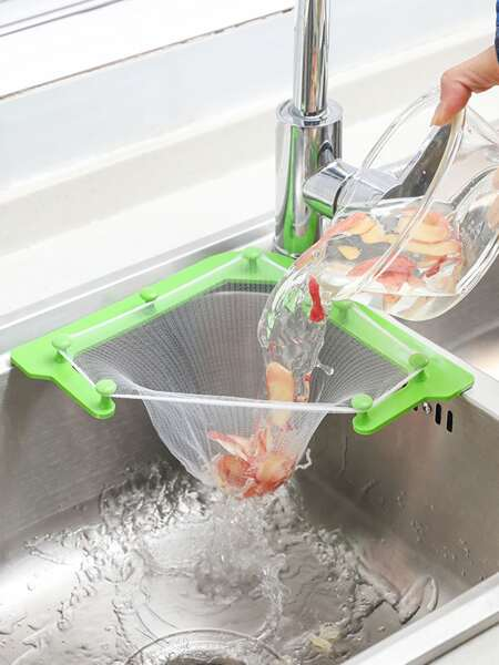 1set  Kitchen Sink Filter Mesh With Rack