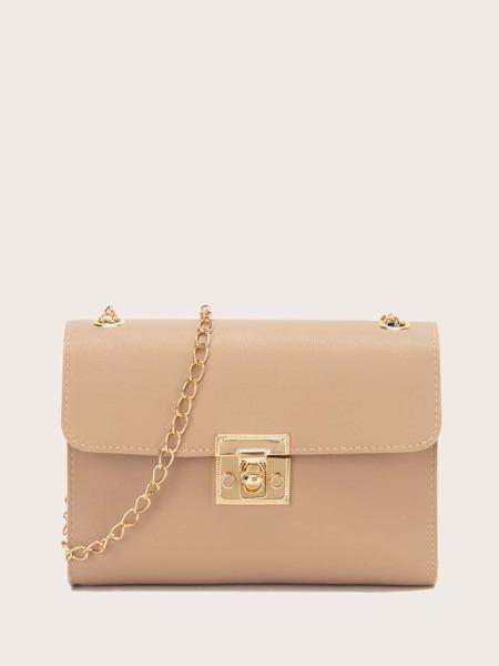 Minimalist Twist Lock Chain Bag