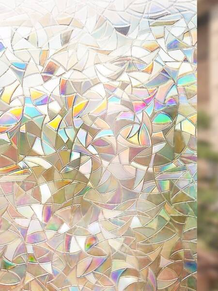 Flower Print Opaque Glass Sticker