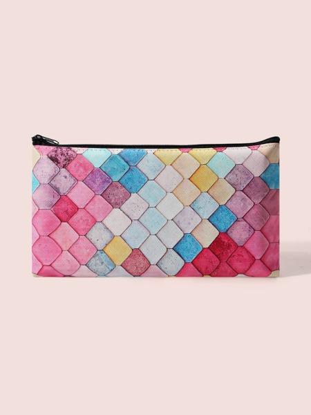 Color Block Makeup Bag