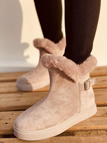Plush Lined Suede Snow Boots