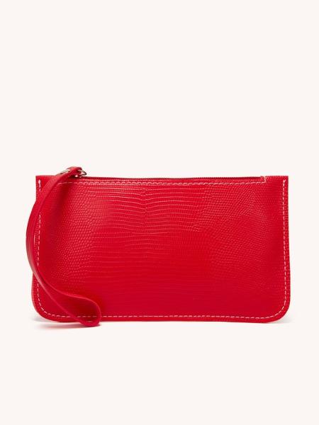 Mini Lizard Pattern Clutch Bag With Wristlet