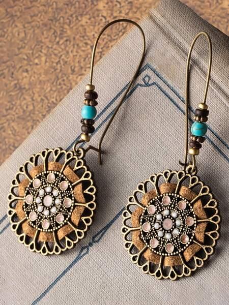 Bohemian Round Drop Earrings